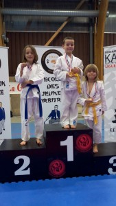podium a BAUD 2015 enfants